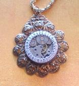 Golden Filigree Steampunk Necklace