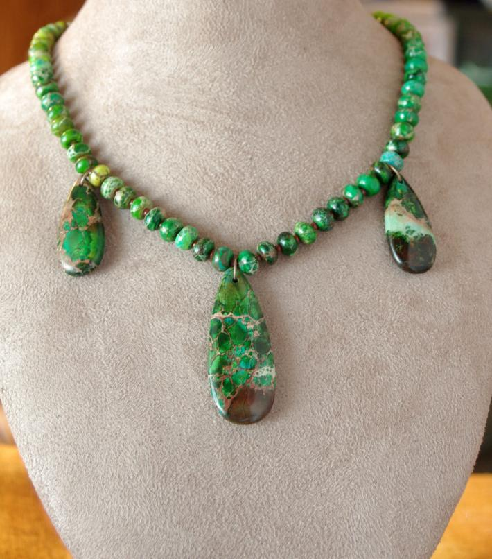 Green Sea Sediment Jasper Necklace