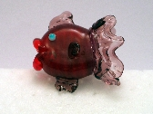 Pink and PurpleHandmade Lampwork Bead Fish