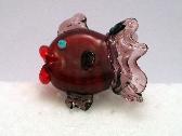 Pink and PurpleHandmade Lampwork Bead Fish