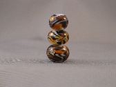 Tiger StripeHandmade Lampwork Beads Set of 3