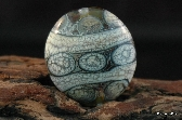 Handmade Organic Lentil Shaped Focal Bead