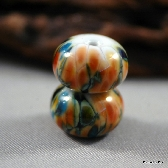 Handmade Lampwork Glass Bead Earring Pair Southwestern Summer