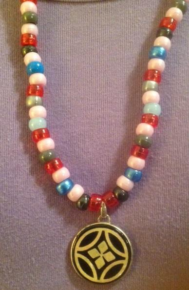 Asian Countryside Beaded Pendant Necklace