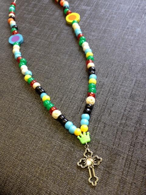 St Jude Cross Pendant Necklace