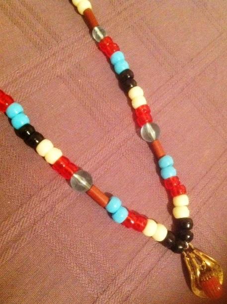 Folkloric Greek Pendant Necklace