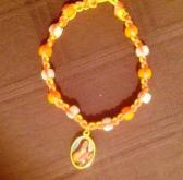 St Therese Macrame Bead Bracelet