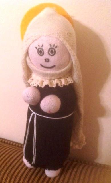 Sock Saint Catherine Doll