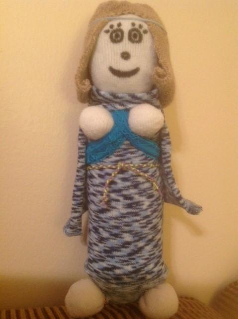 Sock Saint Cecilia Doll