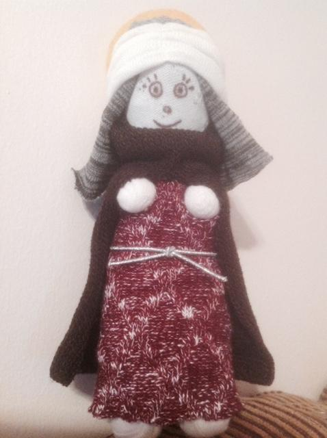 Sock Saint Agatha Doll
