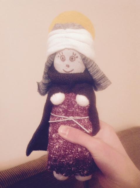 Sock Saint Agatha Doll