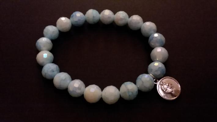 Shimmering Blue St Anthony Bracelet