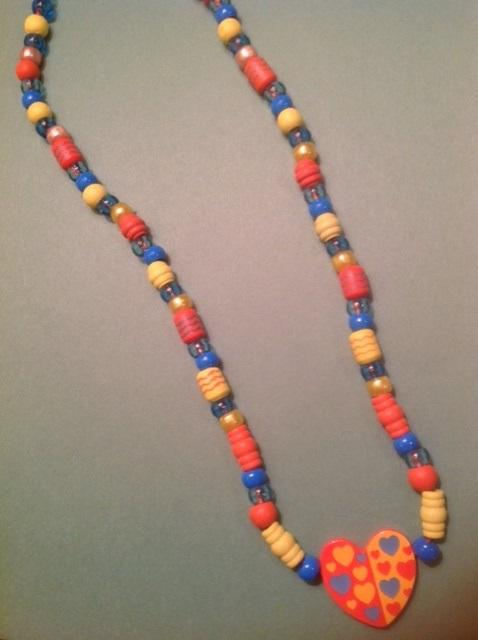 Heart for the Sun Bead Necklace