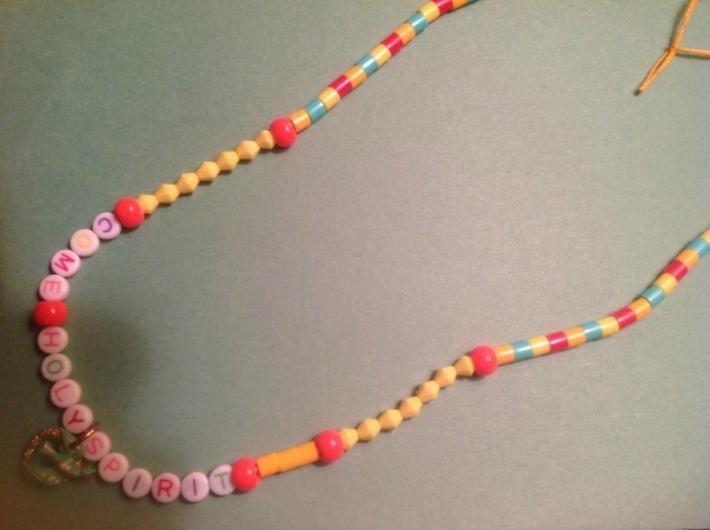 Come Holy Spirit Handmade Necklace