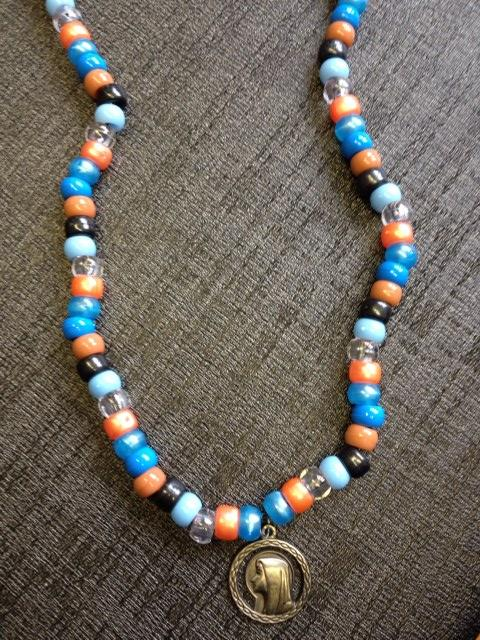 Face of Mary Hand Beaded Necklace