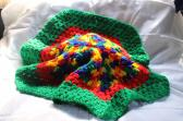 Green Red and Mexicana Octagon Shaped Doily