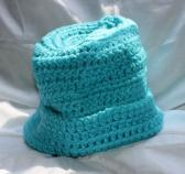 Turquoise 20 inch Hand Crocheted Hat