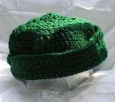 Forest Green 20 Inch Hand Crocheted Hat