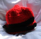 Black and Red Striped 20 Inch Crocheted Hat