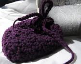 Dark Purple Crocheted Coin Bag