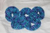 Variegated Oceania Crocheted Scrunchie