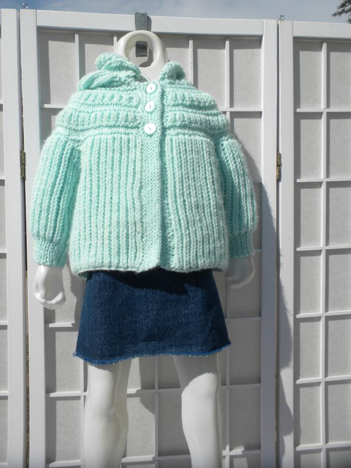 Hooded toddler sweater baby girl sweater baby boy sweater baby gift hand knitted infant sweater