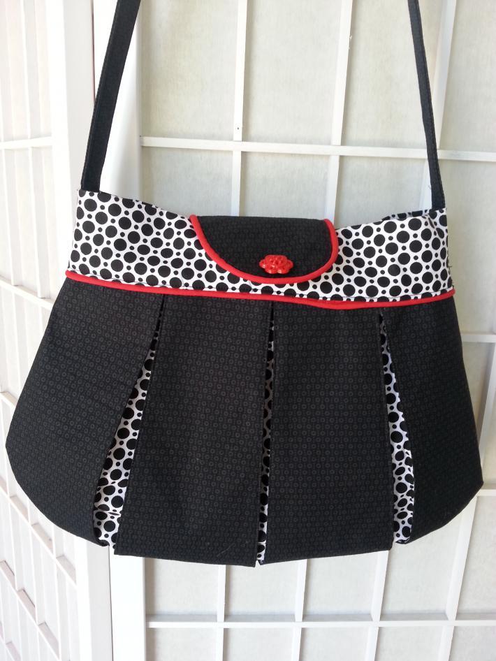 Black and white polka dot purse
