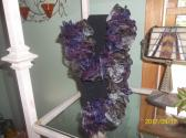 Odessey Purple Ruffle Scarf