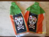 Halloween Crochet Top Tea Towel