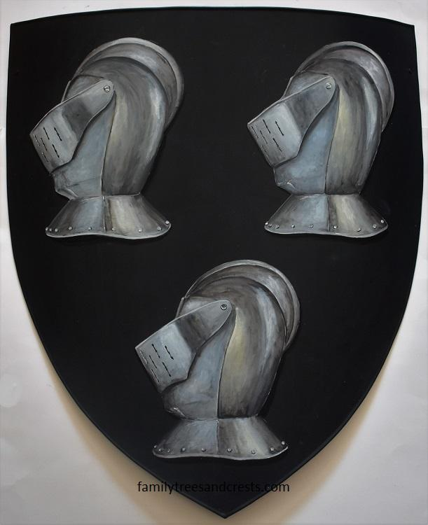Medieval Heater Shield Hand Painted Metal Knight Shields