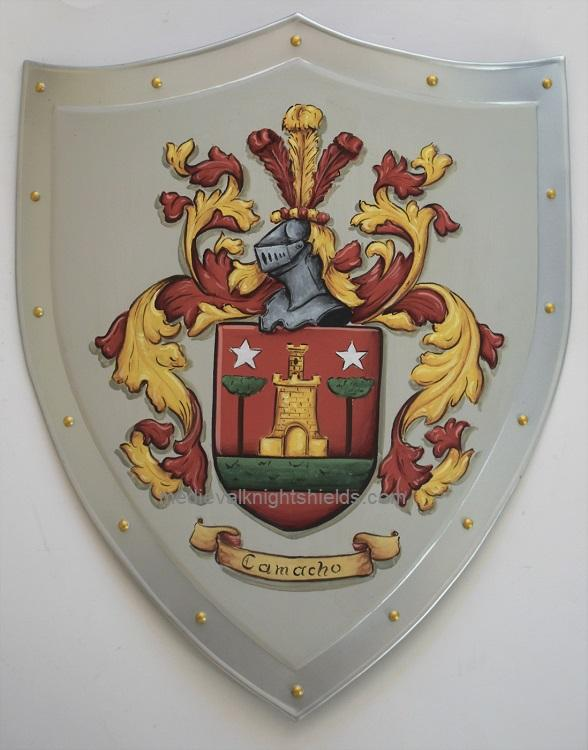 Metal knight shield Coat of Arms Shield