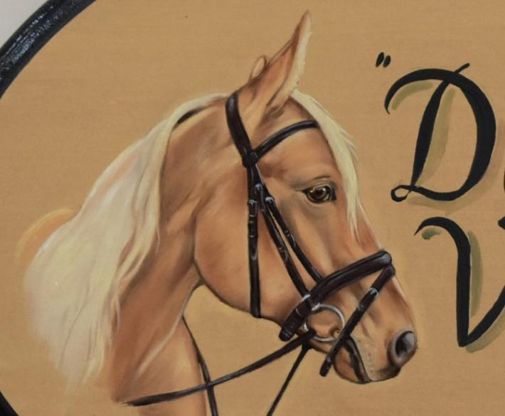 Custom Horse Plaques Horse Portrait Painting