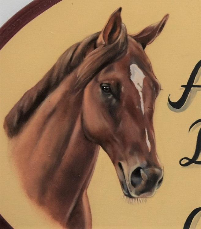 Horse Portrait Custom Horse Stall Sign