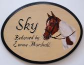 Custom horse plaque horse portrait painting