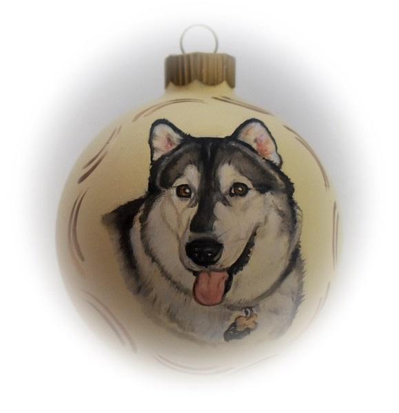Custom dog portrait ornament realistic dog portrait painting