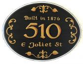 Custom address sign house number plaque wooden plaques