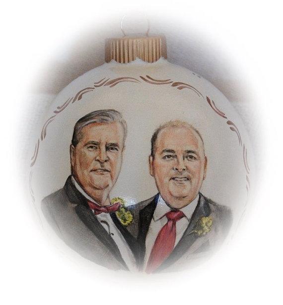 Gay Wedding Portrait Painting Gay Couple Wedding Gift