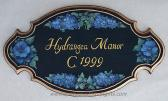 Personalized House Plaque Home Address Plaque Hydrangea