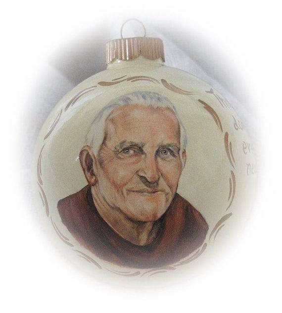 Memorial Portrait Painting Ornament Dad Portrait from Photo