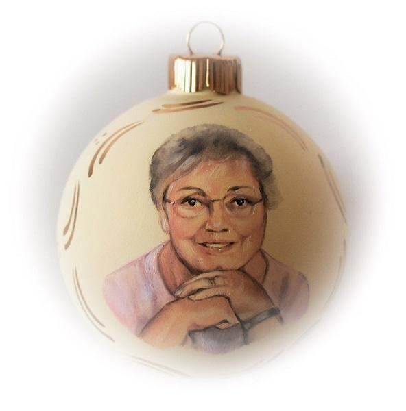 Memorial portrait ornament custom portrait painting from photo