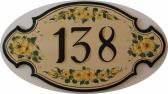 Personalized Address Plaques Custom House Plaque Buttercup Flowers