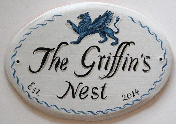 Custom Ceramic Address Plaque Animal Portrait House Sign