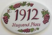 Custom Ceramic House Plaque House Sign Grapes