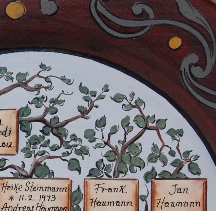 Wedding gift  Anniversary gift family tree painting personalized family tree plate wedding portrait