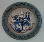 Family Crest Plates Custom Coat of Arms wedding plate 14 inch wooden plate
