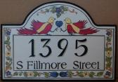 Custom House Number Sign Bird Address Plaques