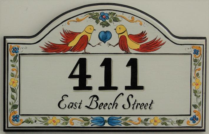 Custom House Number Sign Bird Address Plaques