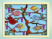 Folk Art Bird Art Print  The Tree Of Life