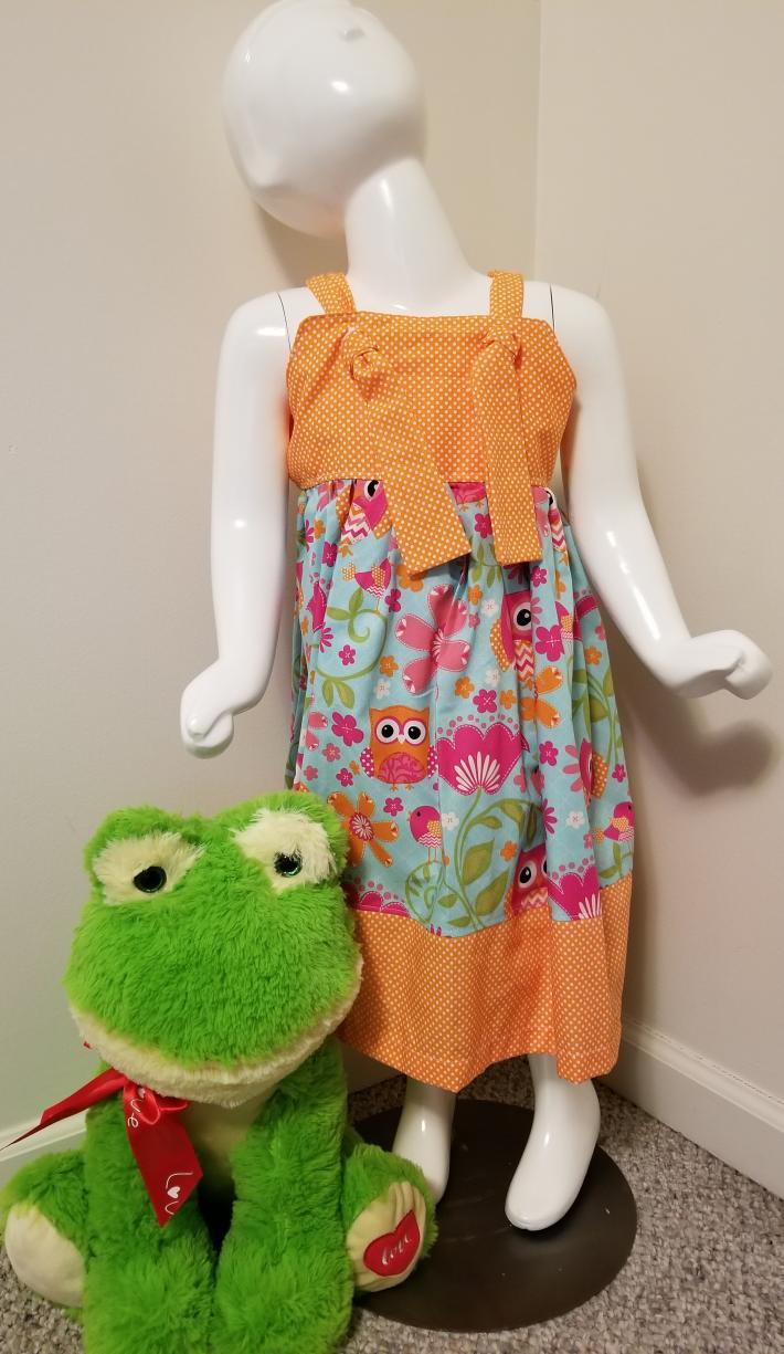 Owl Print Knot Dress