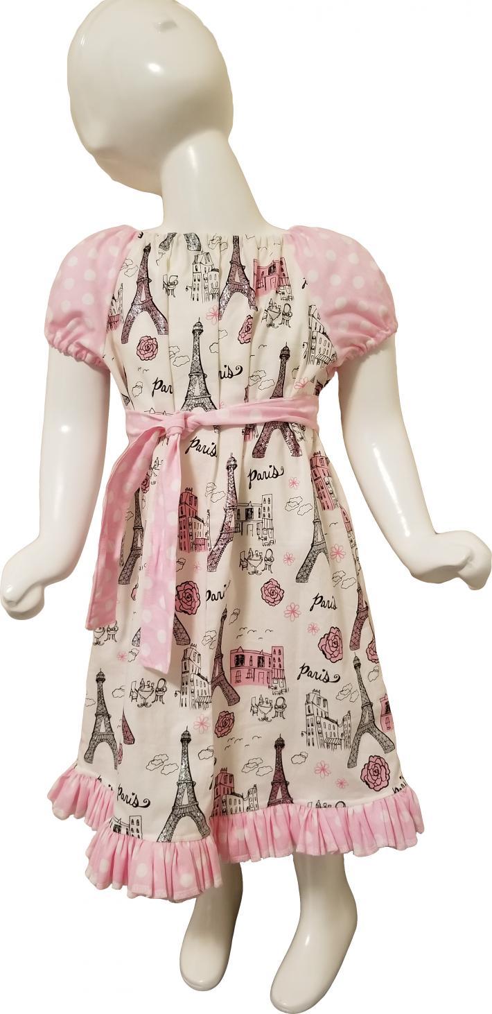 Pink Paris Ruffle Dress